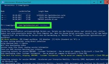 PowerShell-Skript zum Ignite Download