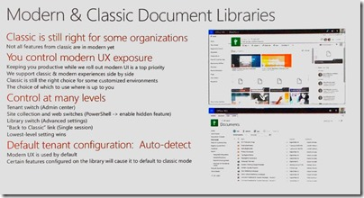 Dokumentenbibliotheken Modern vs. Classic_