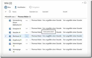 Inhaltsverzeichnis für ein Wiki in SharePoint4