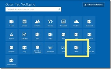 Microsoft Teams jetzt in Office 365