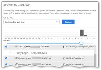 OneDrive 4 Business File Restore_