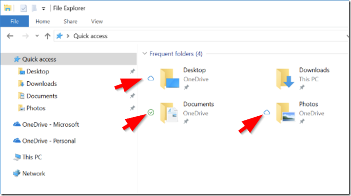 OneDrive Known Folder Migration - Systemordner