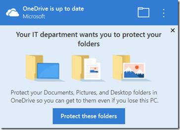 OneDrive Known Folder Migration