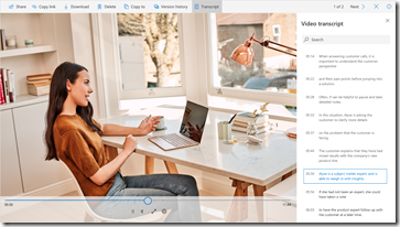 Video-Transskripte mit Office 365