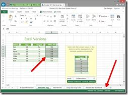 Web Excel Status Bar Aggregates