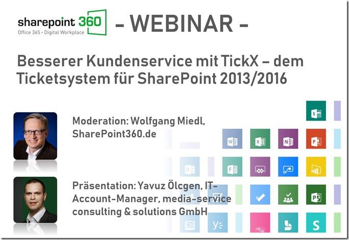 Webinar-TickX - Vorstellung eines Ticketsystems für SharePoint