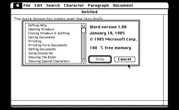 Word 1.0 für Mac
