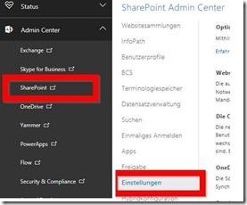 OneDrive neu oder OneDrive alt im SharePoint Admin Center