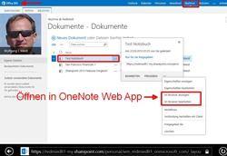 OneNote-Notitzbüchern über Office 365 (neu) - so öffnet man sie mit den WebApps
