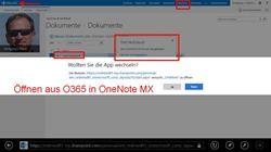 Öffnen von OneNote-Notitzbüchern aus Office 365 (neu) - hier im Metro Explorer
