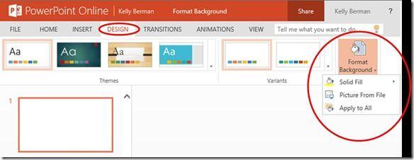 PowerPoint-Online-Hintergrund formatieren