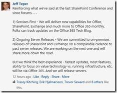 Jeff Teper bestätigt die Weiterentwicklung der Office-Server