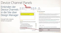 Device Channel Panels - Einbinden von Device-Channels in den Site-HTML-Code
