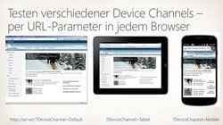 Testen verschiedener Device Channels – per URL-Parameter in jedem Browser