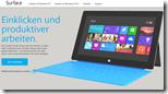 Microsoft eröffnet den Shop für seine Surface-Tablets