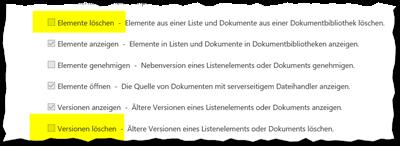 SharePoint Berechtigungsstufen_