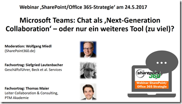Webinar Teams vs. Slack am 24.5.201