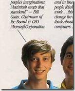 Bill Gates macht Werbung für Apple: Große Zeitungsanzeige von 1984 für den ersten Mac.