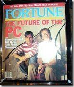 Bill Gates und Steve Jobs im gemeinsamen Interview im Fortune Magazine 1991 (aufgenommen im Microsoft-Museum, Redmond)