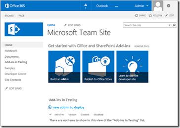 SharePoint Teamsite testen