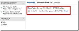 Dowload Sharepoint 2013 ab dem 24.10.
