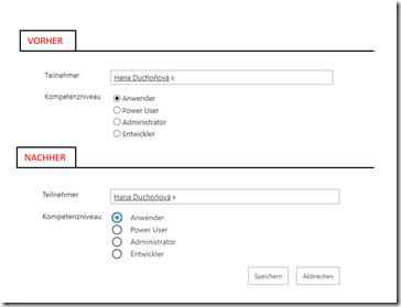 Vorher-Nachher - Darstellung von Websitespalten in SharePoint mit JavaScript anpassen