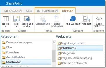 SharePoint-Webpart für Inhaltssuche