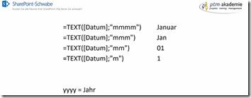 Tipp: Formel in 'SharePoint-Listen' - ein Datum als Wochentag anzeigen lassen