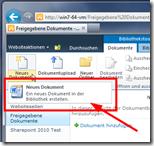 Dokumentenbibliotheken mit Office-Vorlagen - Im Standard nur eine Vorlage