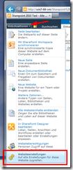 Dokumentenbibliotheken mit Office-Vorlagen - Websiteeinstellungen