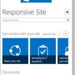 ShartePoint-Seite im Phone-View für kleine Endgeräte