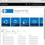 ShartePoint-Seite im Responsive-Table-View