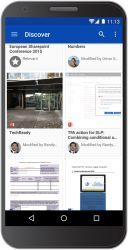 Discover gibt es am Anfang im Browser und in der Android-App.