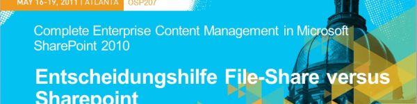 Dokumentenmangement - File-Share oder SharePoint