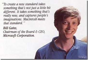 Bill Gates für Macintosh 1984
