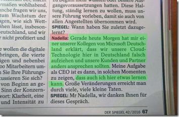 Nadella im Spiegel-Interview