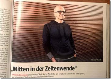 Microsoft-Chef Satya Nadella bei seinem Deutschland-Besuch im Spiegel-Interview