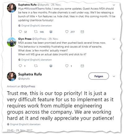 Verzögerung beim Gastzugang für Microsoft Teams